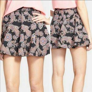 Lush Paisley Boho Mini Skirt